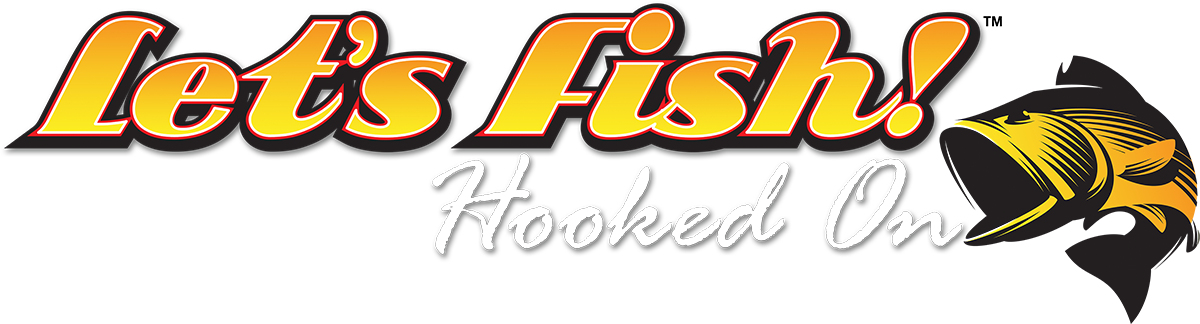 Let's Fish! Hooked On logo